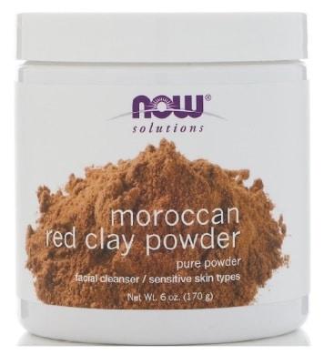 Poudre d'argile rouge marocaine